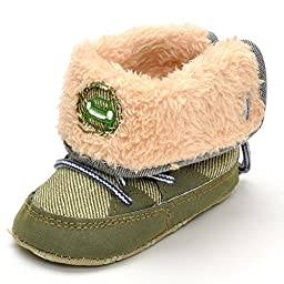 Infant Warm Winter Boots Green US 4