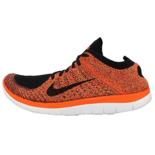 the best attitude b801f a5b5a Nike Men s Free 4.0 Flyknit , BLACK BLACK-TOTAL ORANGE-HYPER PUNCH,