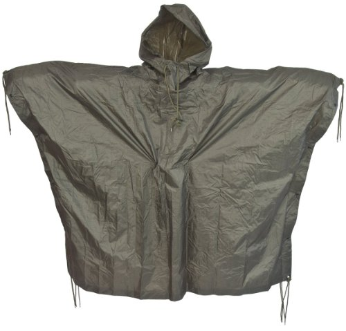 us-waterproof-ripstop-hooded-nylon-festival-poncho-olive-green