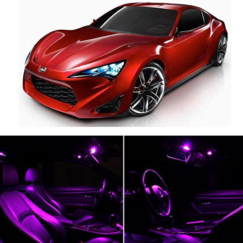 Scion Fr-S 2013 & Up Fuschia Purple Premium Led Interior Lights Package Kit (4 Pieces)