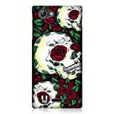 Head Case Designs Red Florid of Skulls Design Snap On Back Case for Sony Xperia J ST26i