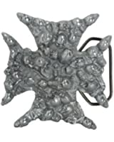 Great American Products Iron Cross made of Skulls Belt Buckle