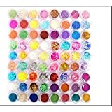 XICHEN72PC nail art glitter powder dust tips decoration (72) (Color: 72)
