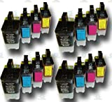 16 High-Capacity LC900 Compatible Ink Cartridges for the Brother DCP-115C Printer