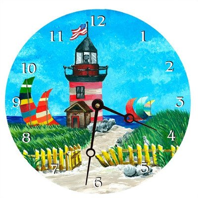 Light House Decorative Wall Clock Size: 18
