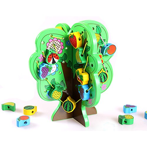 youtop-diy-fruit-tree-wooden-string-threading-beads-early-education-toy-for-kids