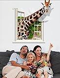 Giraffe-Wandsticker-Aufkleber-Flugzeug-3D-Wand