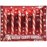 Bacon Candy Canes Holiday Novelty Gag Gift Box of 6
