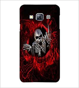 PrintDhaba Funny Skeleton D-4033 Back Case Cover for SAMSUNG GALAXY A3 (Multi-Coloured)