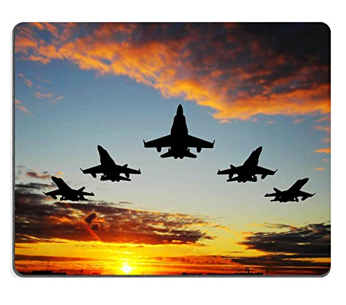 Mousepads Five bombers over orange sunset IMAGE 2030048 by MSD Mat Customized Desktop Laptop Gaming Mouse Pad