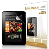 amFilm Premium Screen Protector Film HD Clear (Invisible) for Kindle Fire HD 7 inch (1st Generation, 2012) Tablet (2-Pack) [in Retail Packaging]