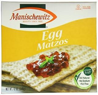 Manischewitz Matzo Cracker, Egg, 12 Ounce