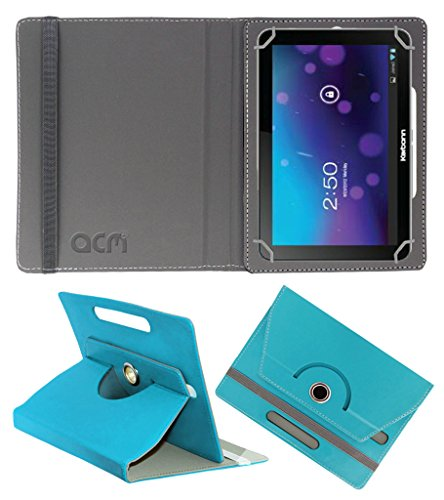 Acm Rotating 360° Leather Flip Case For Karbonn Smart Tab 7 Tornado Tablet Cover Stand Greenish Blue  available at amazon for Rs.149