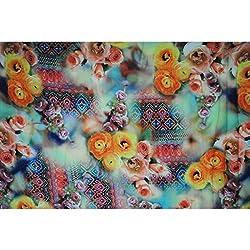 Triveni CREPE Fabrics (TSFD019_LIGHT YELLOW)