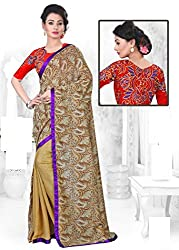 Myraa designer sizzling printed georgette saree With Unstitched Blouse