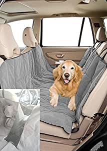 Duragear Pet Travel Hammock Dog Car Seat Cover- Microvelvet Slate