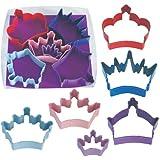 R & M International 1801 6-Piece Cookie Cutter Set, Crown