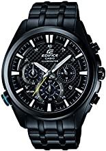 Edifice Men's Quartz Watch with Black Dial Analogue Display and Black Stainless Steel Bracelet EFR-537BK-1AVEF