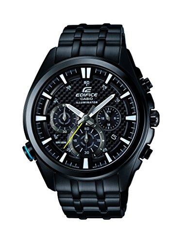 Casio Edifice EFR-537BK-1AVEF - Reloj de cuarzo para hombre, correa de acero inoxidable color negro