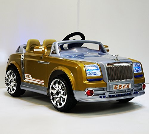 Phant6666 Gold Sports Edition Rolls Royce Phantom Style Ride-on Car for Kids 2-7 years old with Remote Control (Rolls Royce For Kids compare prices)