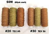 ジーンズ綿糸(カタン糸)6本セット