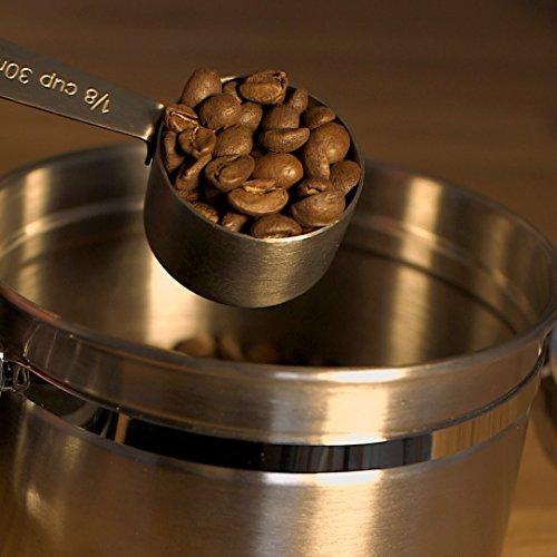 BEST Coffee scoop - 2 Tablespoon Exact - Stainless Steel Measuring Spoon by Coffee Gator - Premium Coffee Accessories (Medium 2 Pack, Stainless Steel)