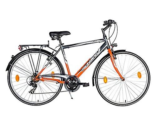 F.lli Schiano Trekking Ares Cambio Power Bicicletta, Antracite/Arancio, 28