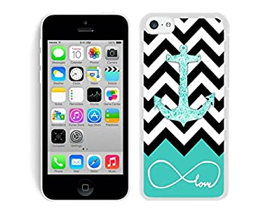 Dacheng Funniest Glitter Anchor iPhone 5C Case White Cover case