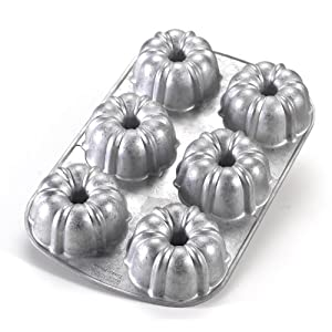 Nordic Ware Commercial Original Bundt Muffin Pan with Premium Non-Stick Coating, 6-Cavity