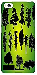 Snoogg 14 Plants Silhouettes Designer Protective Back Case Cover For Xiaomi M...