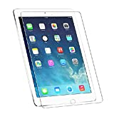 HDE Premium Ultra Clear Scratch Resistant No Fingerprint Smudge Tempered Glass Film Screen Protector for iPad Air and Air 2