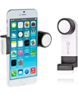 IZIDEAL support blanc- kit main libre - kit bluetooth - téléphone pour voiture grille d'aération, ventilation mobile Apple iPhone4/4S, iPhone5, iPhone5C, iPhone5S, Samsung Galaxy S3, Apple iPod touch, GPS,