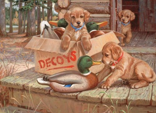 Cheap Cobble Hill Doggie Decoys Jigsaw Puzzle 1000 Piece by Cobble Hill (B004UMAUI6)