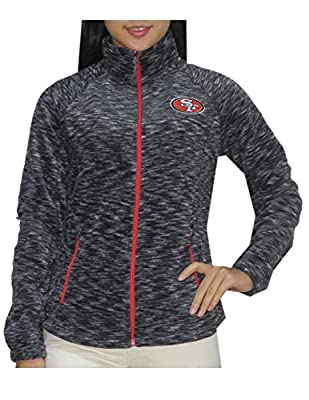 NFL SAN FRANCISCO 49ERS Womens Athletic Zip-Up Thermal Track Jacket