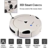 EVERYBODY(TM) X1 Connected Wi-Fi Enabled Intelligent Robot Vacuum Cleaner for Pets and Allergies with FREE Mobile App and Smart Camera Remote control and Self Charge 2-Year Warranty