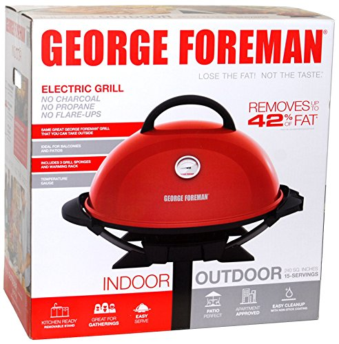 George Foreman Indoor/Outdoor Electric Grill (George Foreman Grill On Stand compare prices)