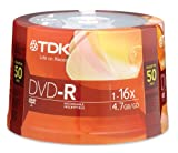 TDK 16X DVD-R 50 Pack Spindle