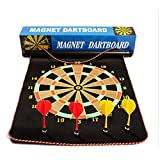 12'' Inch Magnetic Magnet Reversible Dart Board Two-Sides With 4 Dart
