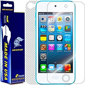 ArmorSuit MilitaryShield - iPod Touch 5G 5th Generation Screen Protector Shield + White Carbon Fiber Film Protector & Lifetime Replacements