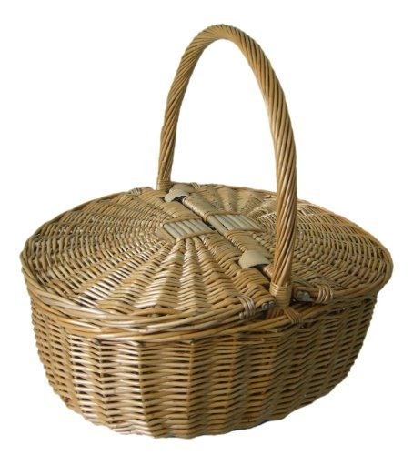 Antique Grey Oval Picnic Basket by Red Hamper 0