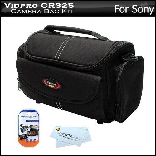 Deluxe Rugged Camera Bag / Case For Sony Alpha Nex-5, Nex-5N, Nex-C3, Nex-7, Dsc-Hx100V, Dsc-Hx200V, Dsc-Hx7V, Dsc-Hx9V, Nex-5R, Nex-6, Nex-6L/B, Nex-6/B, Nex6L/B2Bdl Digital Camera + Lcd Screen Protectors + Microfiber Cleaning Cloth