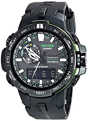 Casio Men's PRW-6000Y-1ACR Pro Trek Black Analog-Digital Sport Watch from Casio