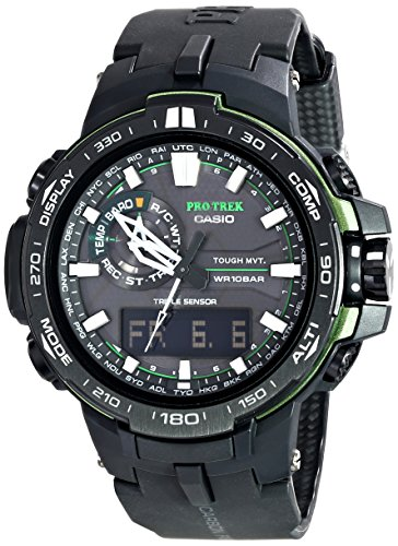 Casio Men's PRW-6000Y-1ACR Pro Trek Analog-Digital Display Quartz Black Watch