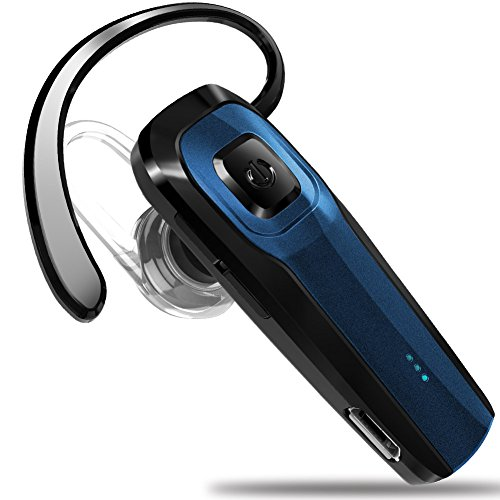 masentek m26 bluetooth headset v4 1 cordless handsfree blue earpiece w noise. Black Bedroom Furniture Sets. Home Design Ideas