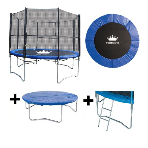 Vortigern 14ft Trampoline + Safety Net Enclosure + Ladder  &  Cover 14' CE  &  TUV Approved
