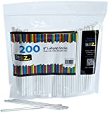 "LolliZ Sturdy Fun Food Safe 6"" Lollipop Sticks Count of 200 in Resealable Bag"