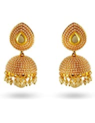 Torus Gold Plated Traditional Pearl Jhumki Ethnic Bollywood Party Fashion Earrings For Women And Girls- Torear0087007c250