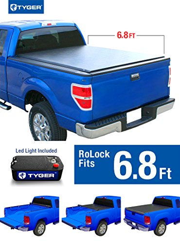 Tyger Auto TG-BC2F2072 RoLock Low Profile Roll-Up Truck Bed Tonneau Cover (For 1999-2007 Ford F-250/F-350 Super Duty 6'8