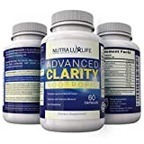 NutraLuxLife ADVANCED CLARITY Nootropic natural mental focus memory and energy super ginkgo complex St John's Wort easy to swallow softgels