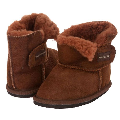 Nino Infants' Genuine Suede Shearling Eva Outsole Boots Size: M - (9-16 Months) Color: Chocolate front-652640